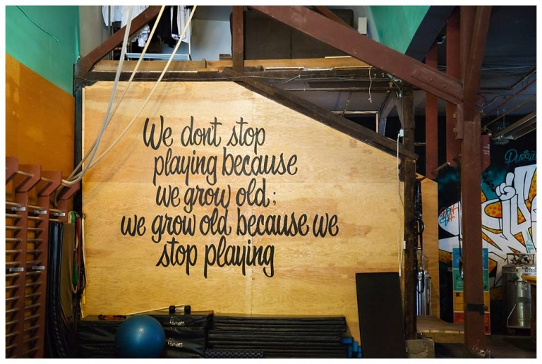 """""""We don't stop playing because we grow old. We grow old because we stop playing"""" - Pursuit OCR"""